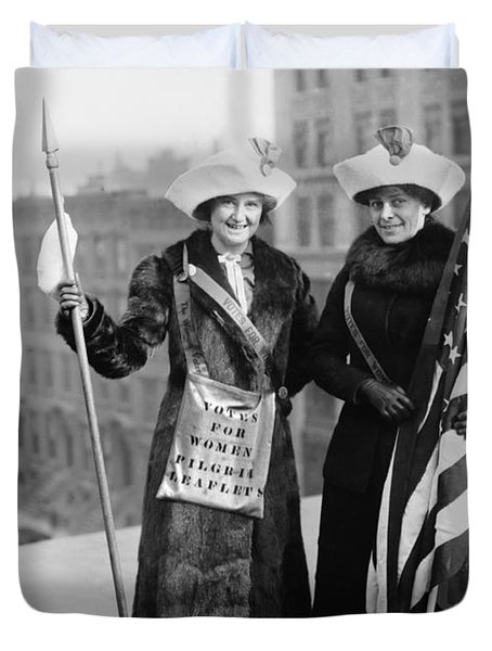 Vintage Photo Suffragettes Duvet Cover