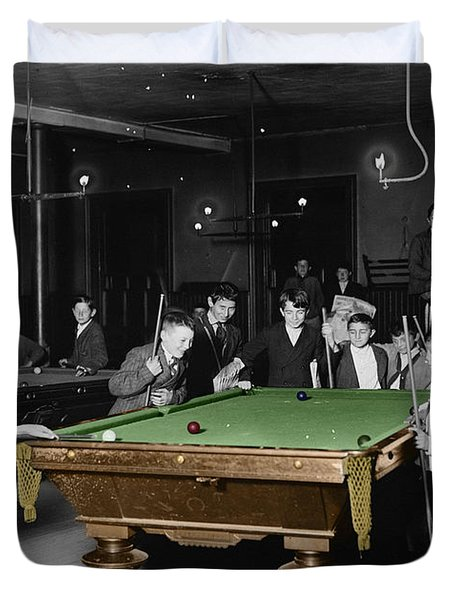 Vintage Pool Hall Duvet Cover