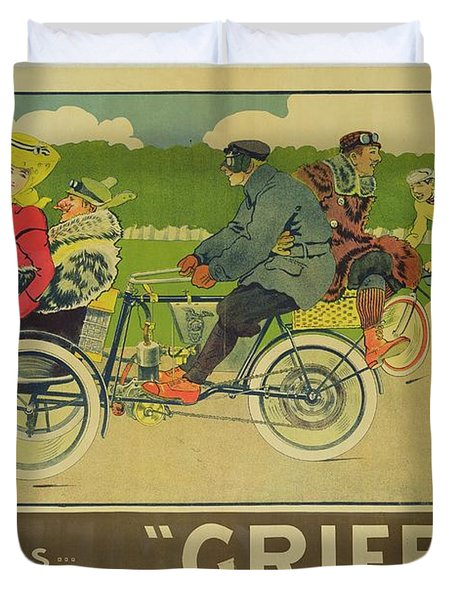 Vintage Poster Bicycle Advertisement Duvet Cover