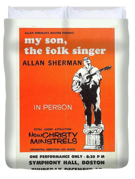 Vintage Poster My Son The Fold Singer Allan Sherman Duvet Cover