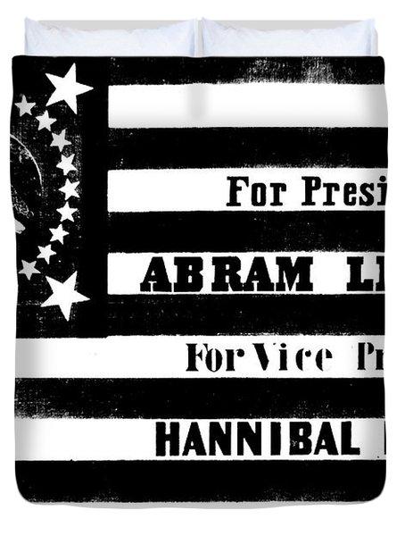Vintage Presidential Campaign Flag Of Abraham Lincoln For President Duvet Cover