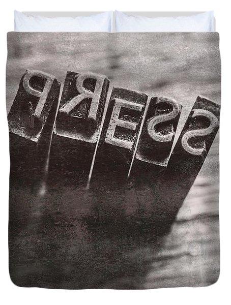 Vintage Press Industry Blocks Duvet Cover