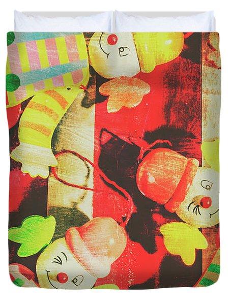 Vintage Pull String Puppets Duvet Cover