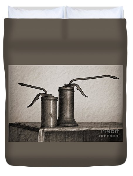 Pump Oil Cans  Duvet Cover