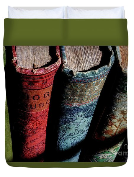 Vintage Read Duvet Cover by Michael Eingle