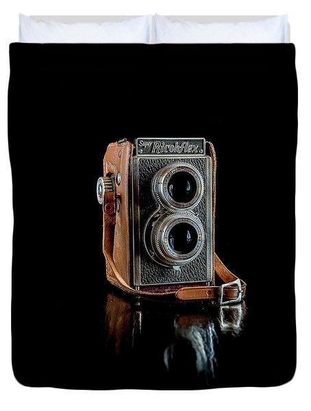 Vintage Ricohflex Camera Duvet Cover