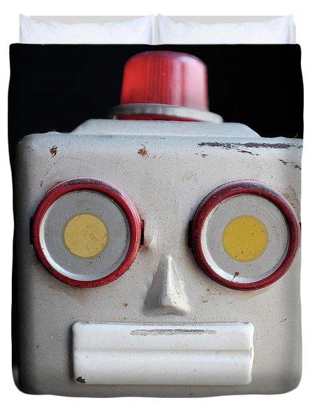 Vintage Robot Square Duvet Cover