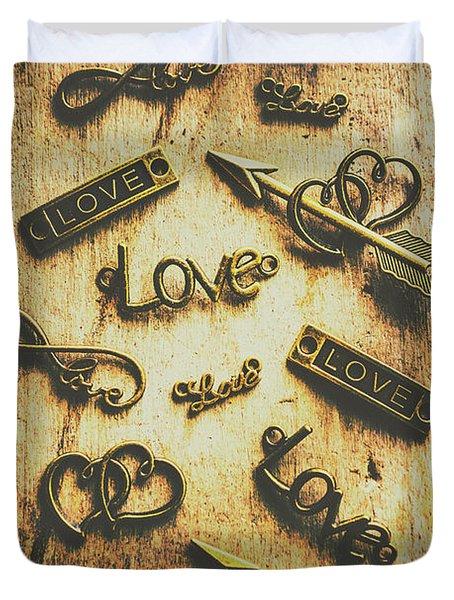 Vintage Romance Duvet Cover
