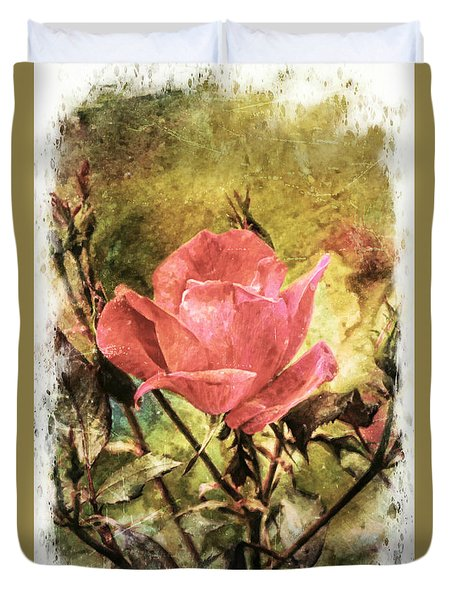 Vintage Rose Duvet Cover by Tina  LeCour