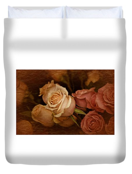 Duvet Cover featuring the photograph Vintage Roses March 2017 by Richard Cummings