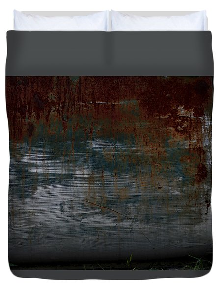 Vintage Rusted Chevy Door  Duvet Cover