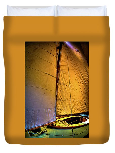 Duvet Cover featuring the photograph Vintage Sailboat by David Patterson