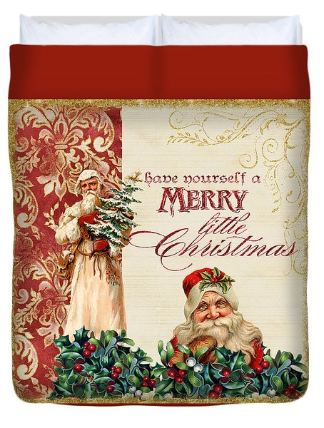 Vintage Santa Claus - Glittering Christmas Duvet Cover