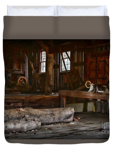 Vintage Sawmill  Duvet Cover