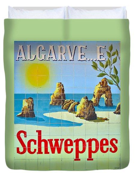 Vintage Schweppes Algarve Mosaic Duvet Cover
