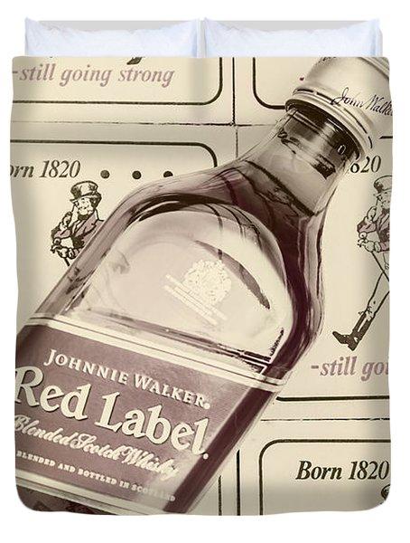 Vintage Scotch Whisky Pub Artwork Duvet Cover