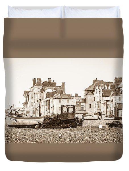 Vintage Seaside Duvet Cover by David Warrington