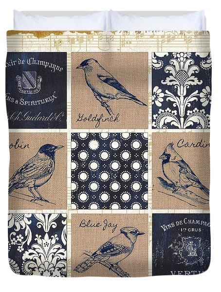 Vintage Songbirds Patch Duvet Cover