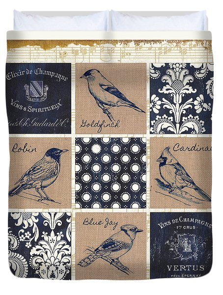 Vintage Songbirds Patch Duvet Cover