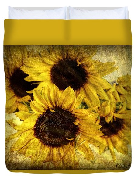 Vintage Sunflowers Duvet Cover by Wallaroo Images