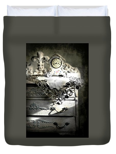 Duvet Cover featuring the photograph Vintage Time by Diana Angstadt