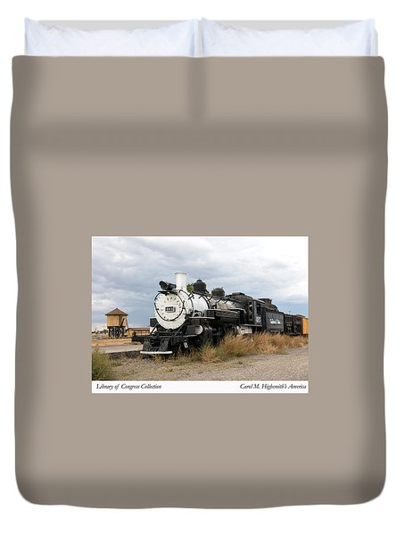 Vintage Train At A Scenic Railroad Station In Antonito In Colorado Duvet Cover by Carol M Highsmith
