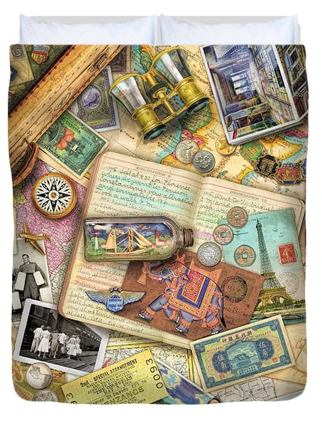 Vintage Travel Duvet Cover