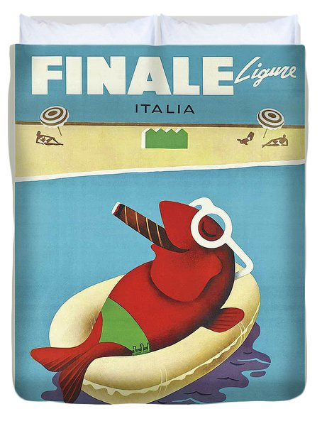 Vintage Travel Poster Italy Duvet Cover by Mindy Sommers
