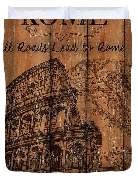 Vintage Travel Rome Duvet Cover