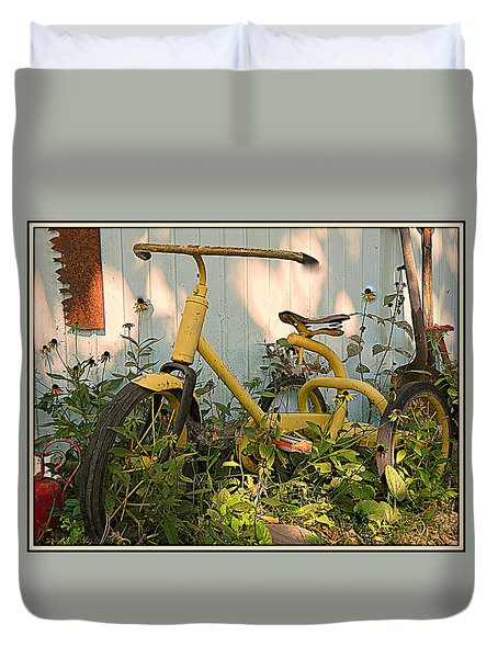 Vintage Tricycle Duvet Cover