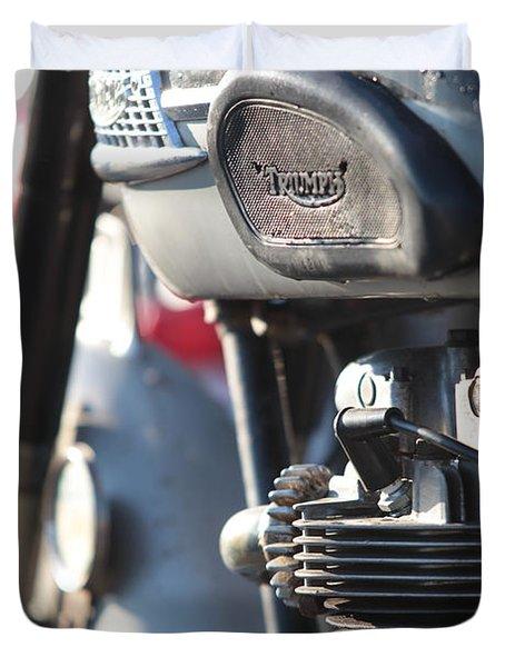 Vintage Triumph Duvet Cover