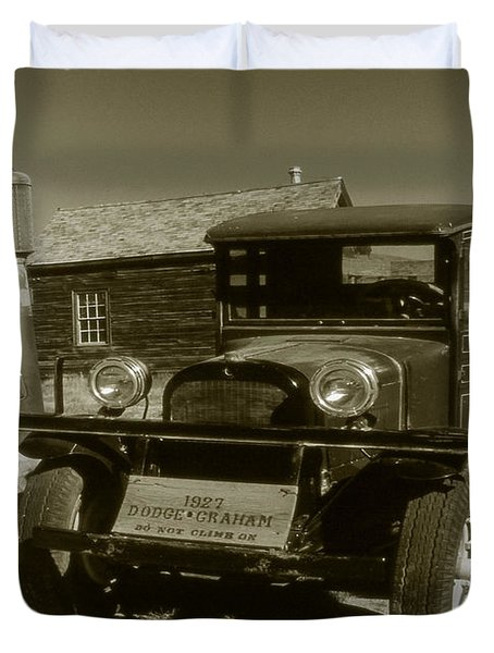 Old Truck 1927 - Vintage Photo Art Print Duvet Cover