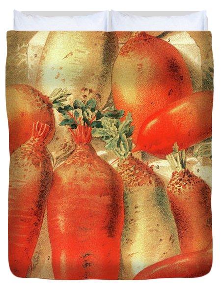 Vintage Vegetable Seed Catalog Paris Rare Duvet Cover