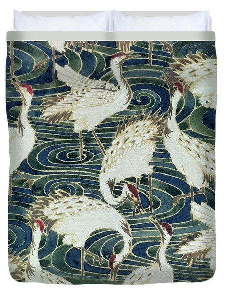 Vintage Wallpaper Design Duvet Cover