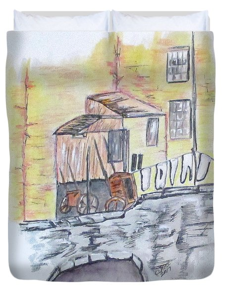 Vintage Wash Day Duvet Cover by Clyde J Kell