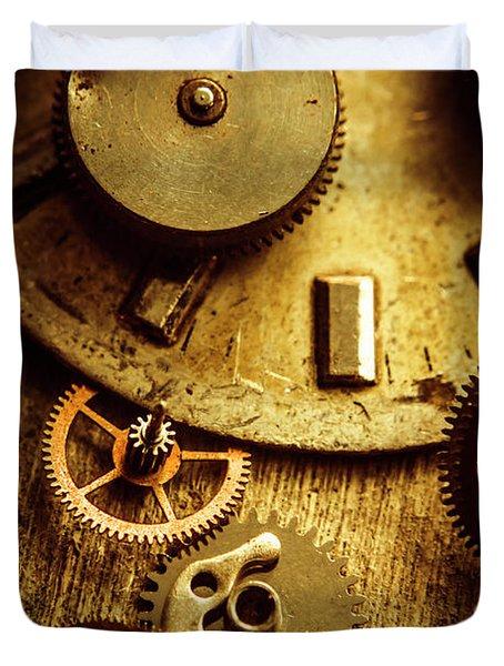 Vintage Watch Parts Duvet Cover