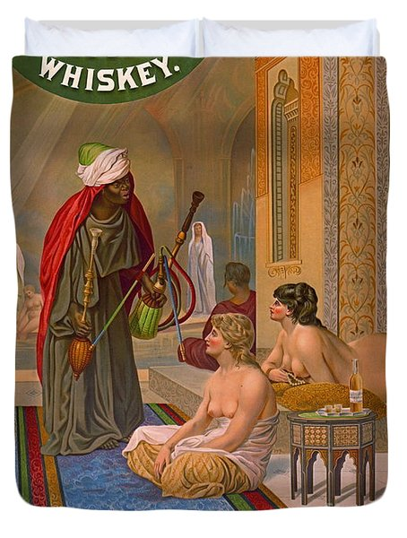 Vintage Whiskey Ad 1883 Duvet Cover by Padre Art