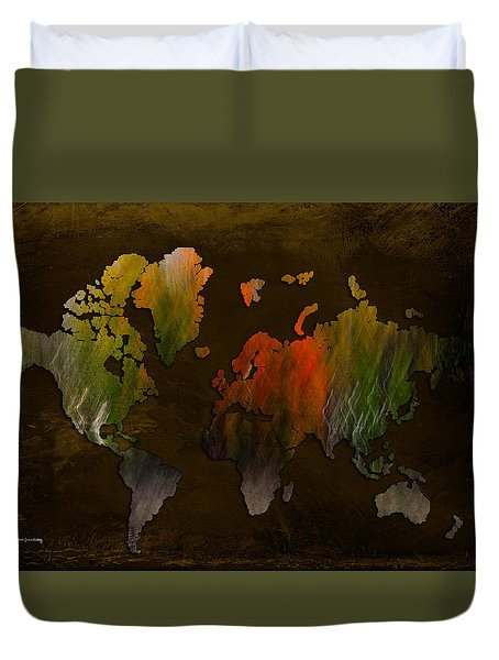 Vintage World Duvet Cover