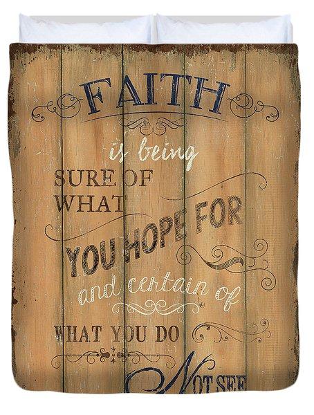 Vintage Wtlb Faith Duvet Cover by Debbie DeWitt