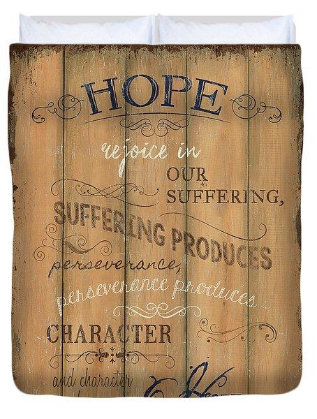 Vintage Wtlb Hope Duvet Cover by Debbie DeWitt