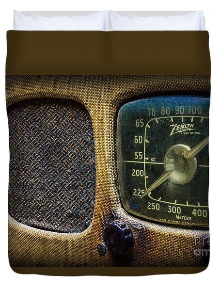 Vintage Zenith Radio Duvet Cover by Paul Ward
