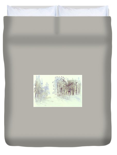 Vintrig Skogsglanta, A Wintry Glade In The Woods 2,83 Mb_0047 Up To 60 X 40 Cm Duvet Cover