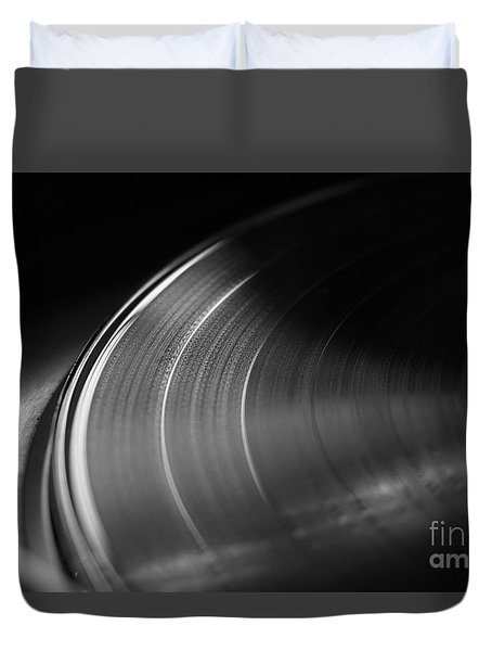 Vinyl Record And Turntable Duvet Cover