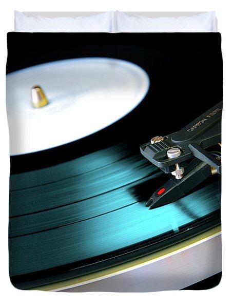 Vinyl Record Duvet Cover