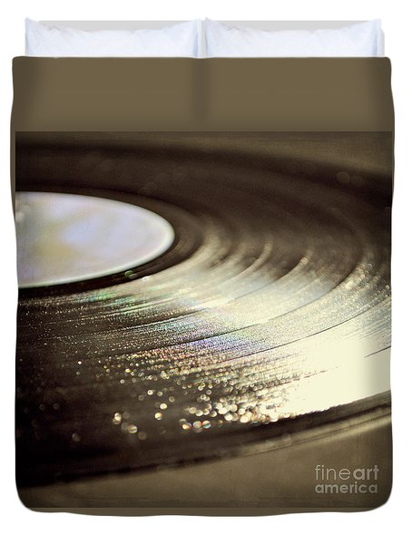 Vinyl Record Duvet Cover by Lyn Randle