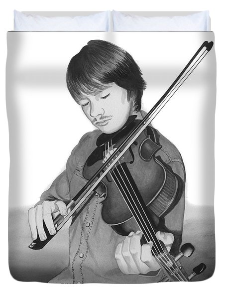 Duvet Cover featuring the painting Viola Master by Ferrel Cordle
