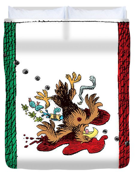 Violence In Mexico Duvet Cover