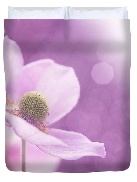 Violet Breeze Duvet Cover by Lisa Knechtel