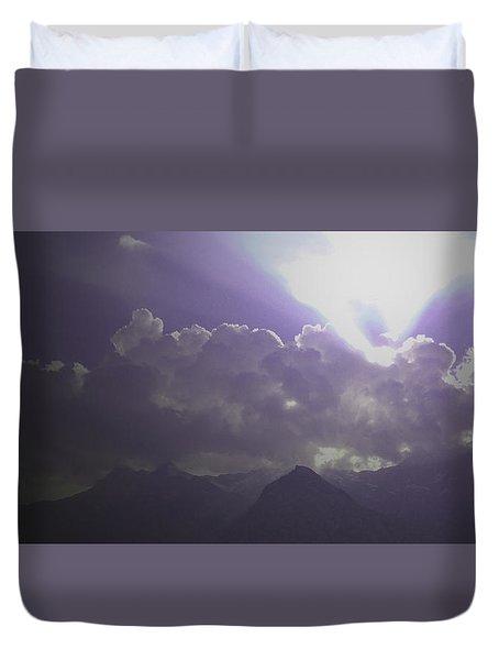 Violet Clouds Duvet Cover