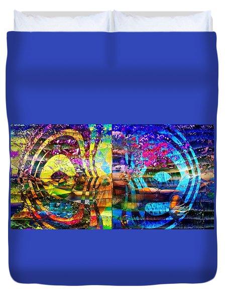 Violet Dream Spiral Duvet Cover